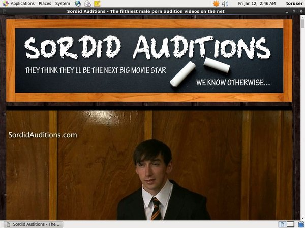 Account Sordidauditions.com