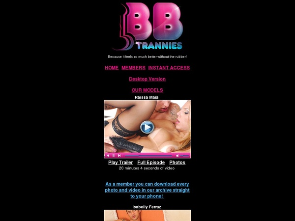 Free BB Trannies Mobile User
