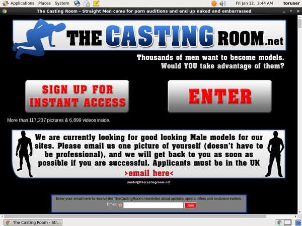 Mobile Thecastingroom Account