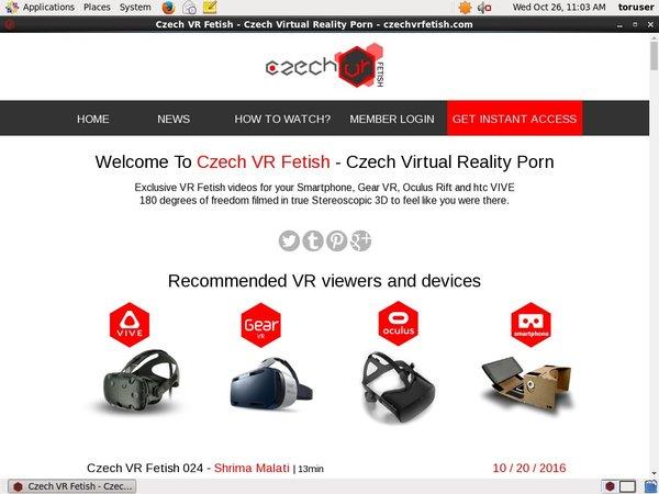 New Czech VR Fetish Password