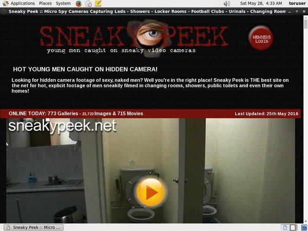 Sneaky Peek Working Account