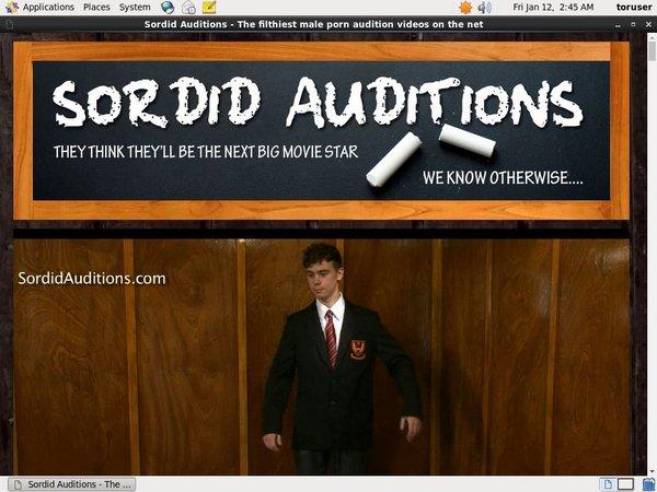 Sordid Auditions Stream