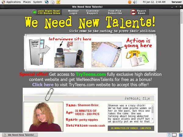 Weneednewtalents Get Account