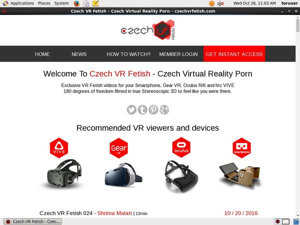 Czechvrfetish.com Account Premium