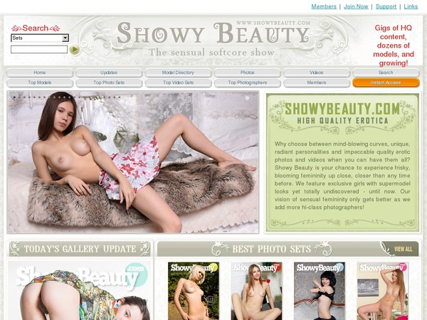 Free Showybeauty.com Account Logins