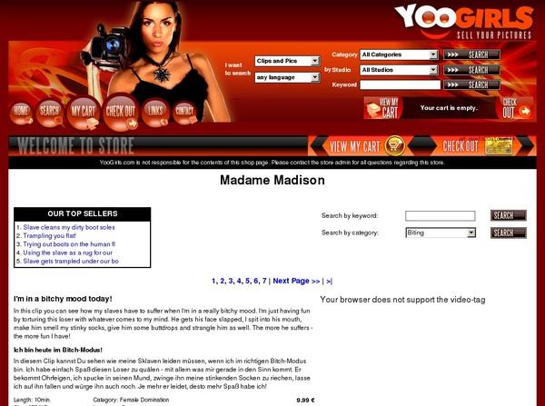 Madame Madison Gratis Password